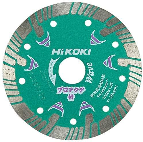 ダイヤモンドカッター 105mm×穴径20mm ディスクグラインダー用 波形 プロテクター 0032-4700