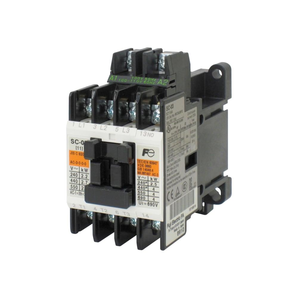 標準形電磁接触器 ケースカバー無 SC-N2 コイルAC200V